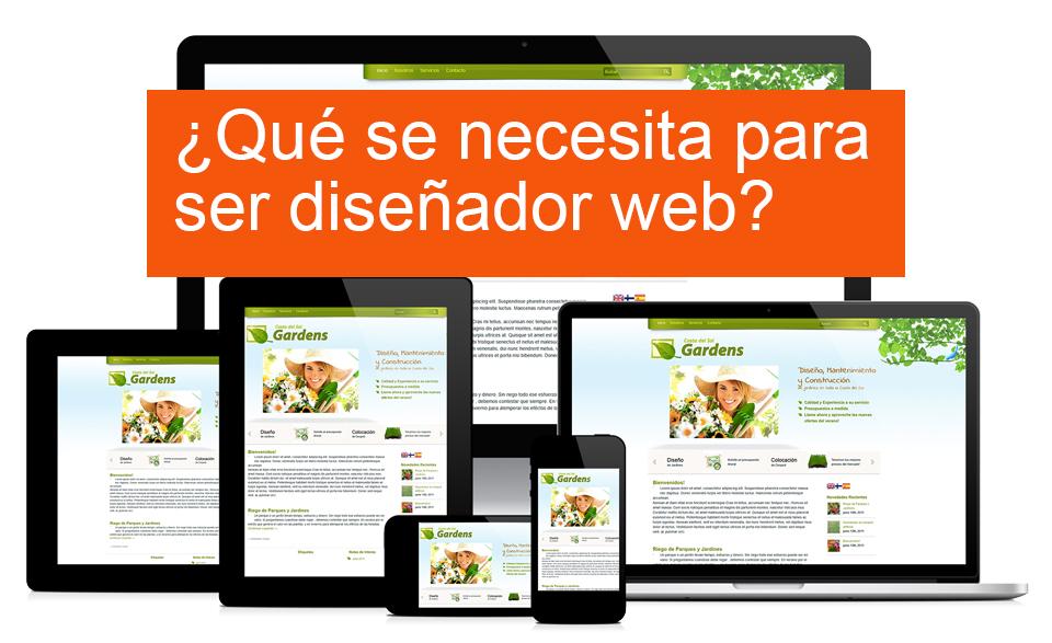 ¿Qué se necesita para ser diseñador web?