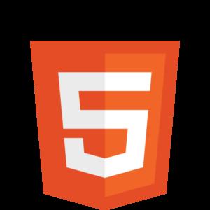 Logo de la tecnología HTML 5